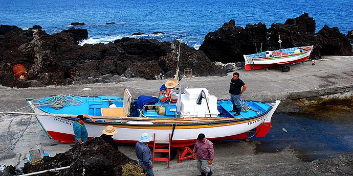 Fischerboote Azoren